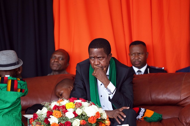 Zambia president Lungu at prayers for the economy last year. FILE PHOTO AFP