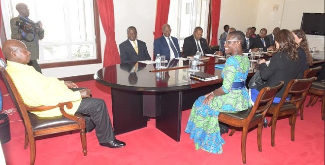 Museveni discusses the economy with IMF's Antoinette Sayeh. FILE PHOTO