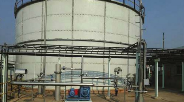 Part of the biogas power project at Nile Breweries.