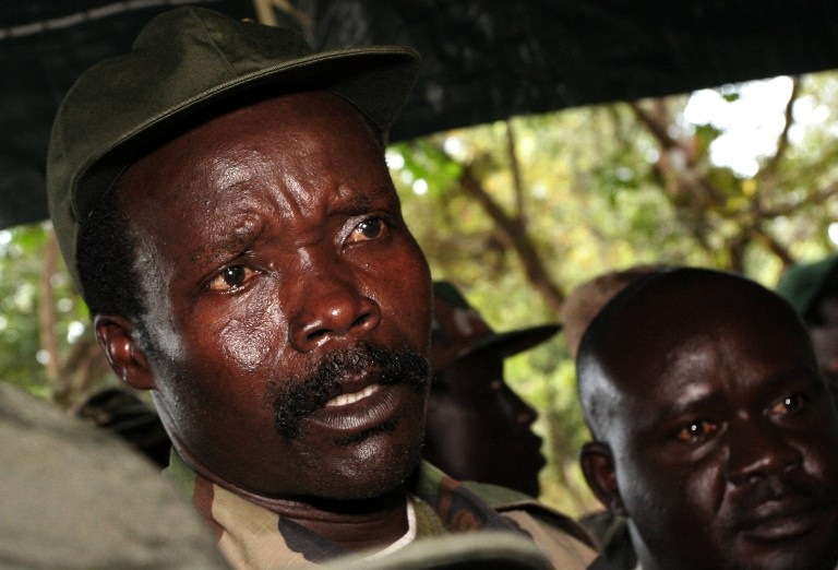 TO GO WITH AFP STORY BY GUILLAUME LAVALLEE (FILES) A picture taken on November 12, 2006 shows the leader of the Lord's Resistance Army (LRA), Joseph Kony, answering journalists' questions in Ri-Kwamba, southern Sudan. A surge in rebel attacks in Sudan by LRA rebels has been creating grave concern. A UN official in the war-torn region of Darfur compares the rebel group to the Loch Ness monster: everyone speaks of it but no one has seen it. AFP PHOTO/STUART PRICE / AFP PHOTO / AFP FILES / STUART PRICE