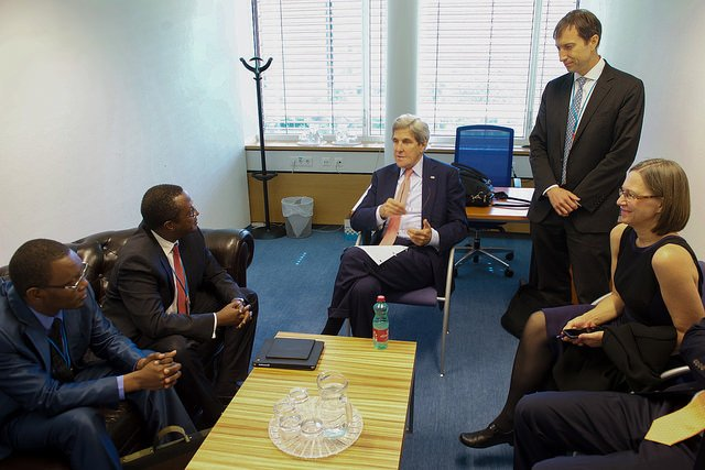 Kerry meets a delegation from Senegal recently. He travels to Nigeria and Kenya soon.