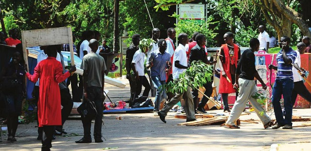 Makerere Students during a strike last year. INDEPENDENT/FILE PHOTO
