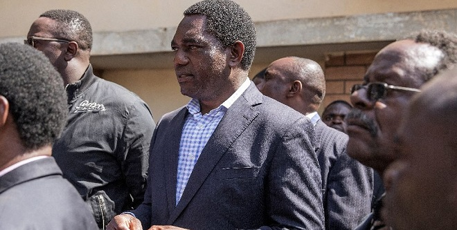 Hakainde Hichilema, leader of the United Party for National Development, has alleged fraud in this week's presidential vote. PHOTO AFP